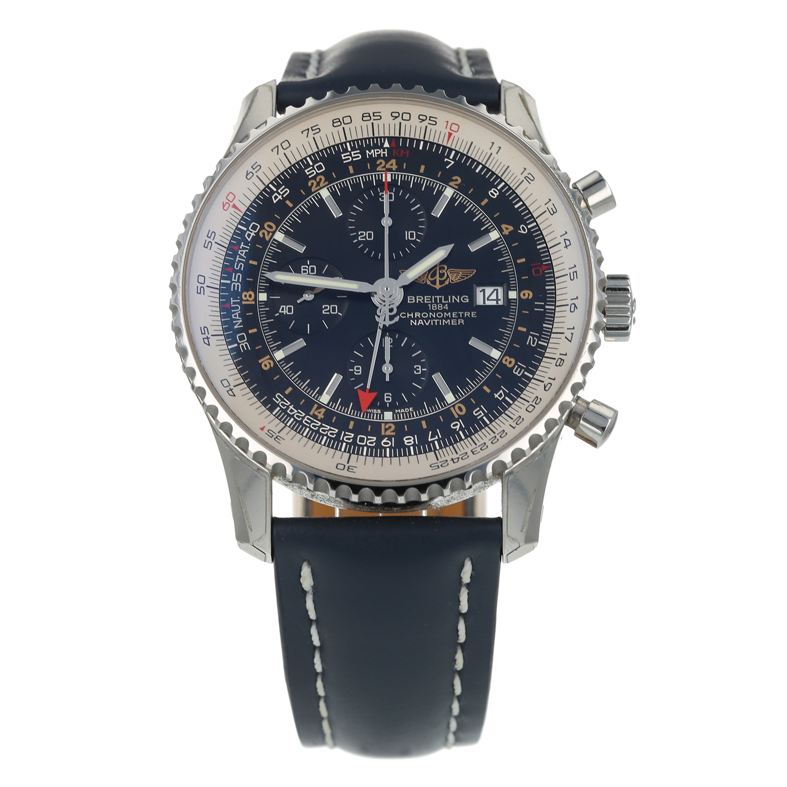 Pre Owned Breitling Navitimer World Mens Watch A24322