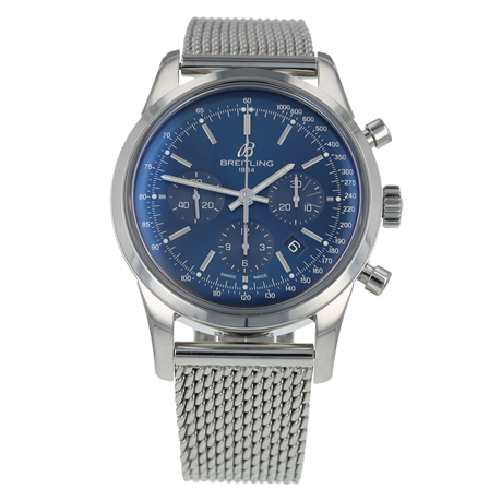 Pre-Owned Breitling Transocean Chronograph Limited Mens Watch AB0151