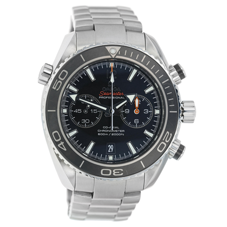 Pre-Owned Omega Stainless Steel Planet Ocean Co-Axial 2013 Men's Watch