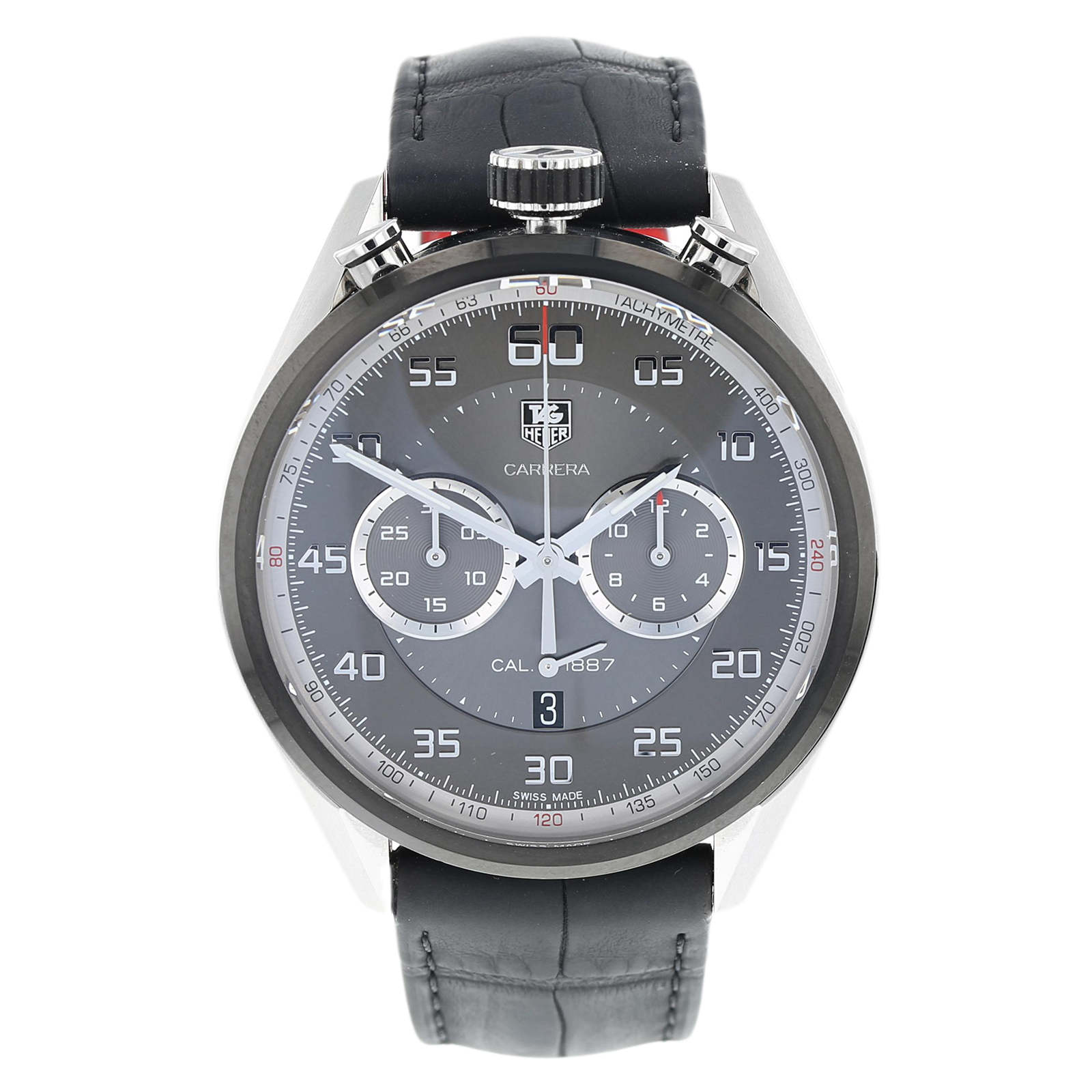 Tag Carrera Watch >> Pre Owned Tag Heuer Carrera Calibre 1887 Mens Watch