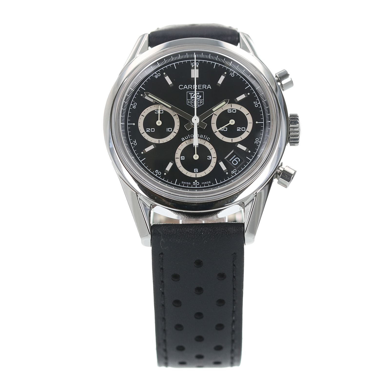 Pre-Owned TAG Heuer Carrera Chronograph Mens Watch CV2113-0