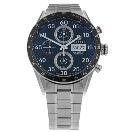 Pre-Owned TAG Heuer Carrera Day Calibre 16 Date Mens Watch CV2A10