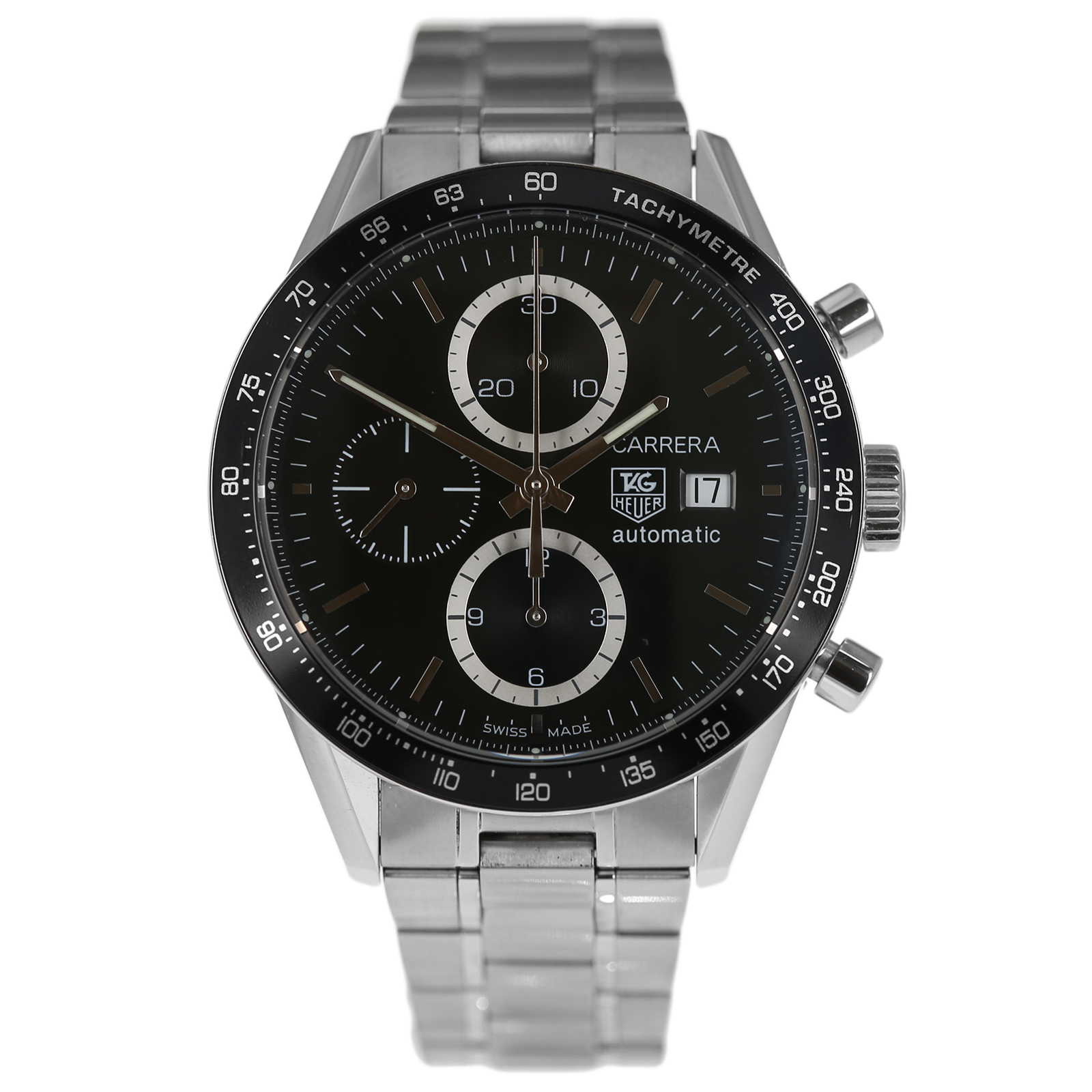7b28bc793d902 Pre-Owned TAG Heuer Carrera Calibre 16 Mens Watch CV2010