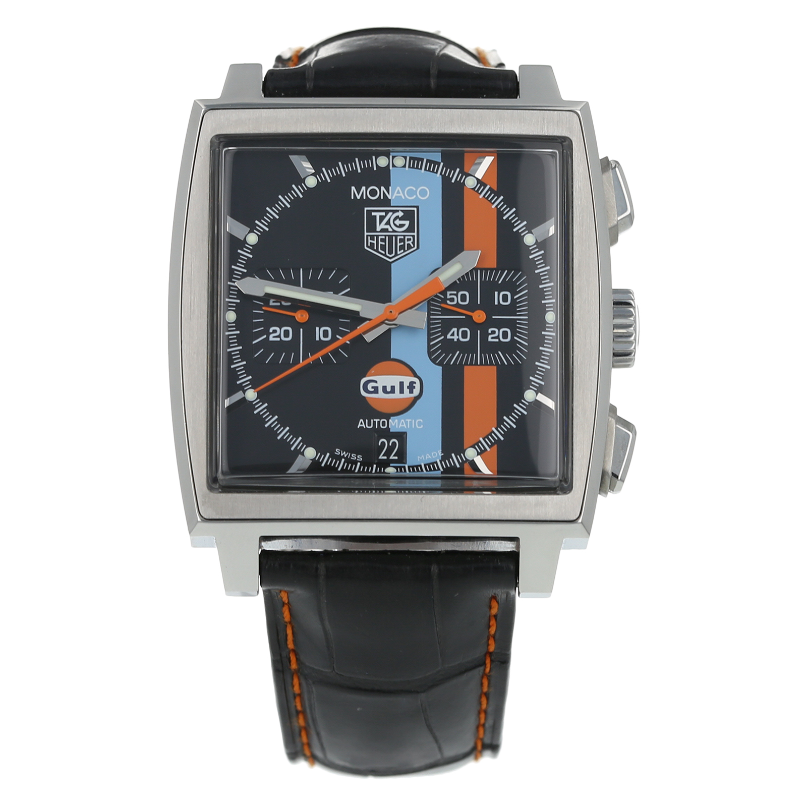 Pre Owned Tag Heuer Monaco Gulf Limited Edition Mens Watch Cw211a