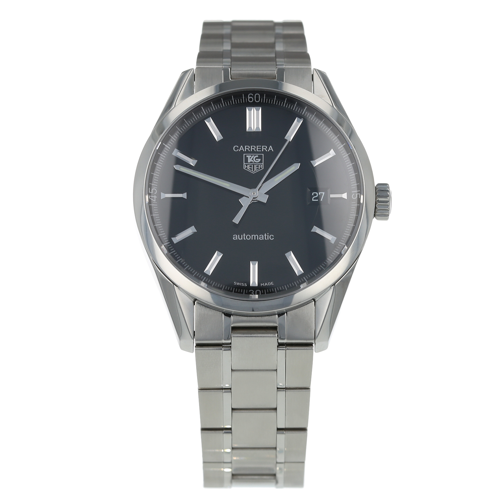 6b74944e063 Pre-Owned TAG Heuer Carrera Calibre 5 Mens Watch WV211B-2 | Pre Owned  Watches | Mappin & Webb
