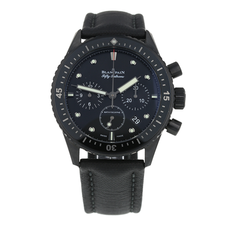 Pre-Owned Blancpain Fifty Fathoms Bathyscaphe Flyback Chronograph Mens Watch 5200-0130-B52A