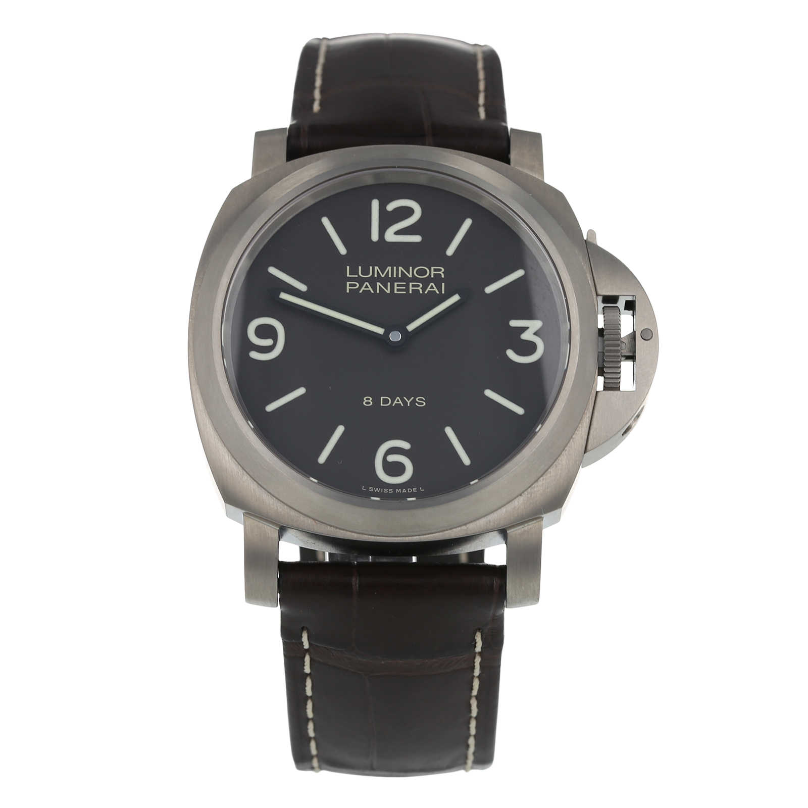 Pre-Owned Panerai Luminor Base 8 Days Mens Watch PAM00562
