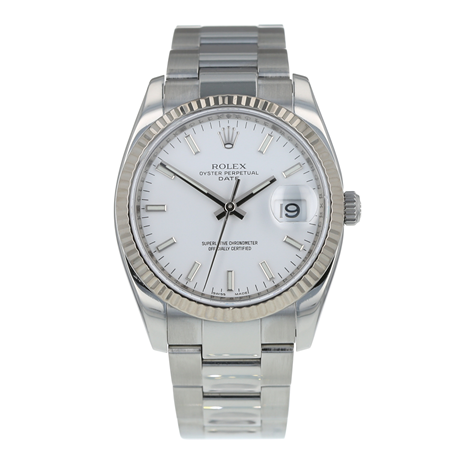 Pre-Owned Rolex Oyster Perpetual Date Mens Watch 115234
