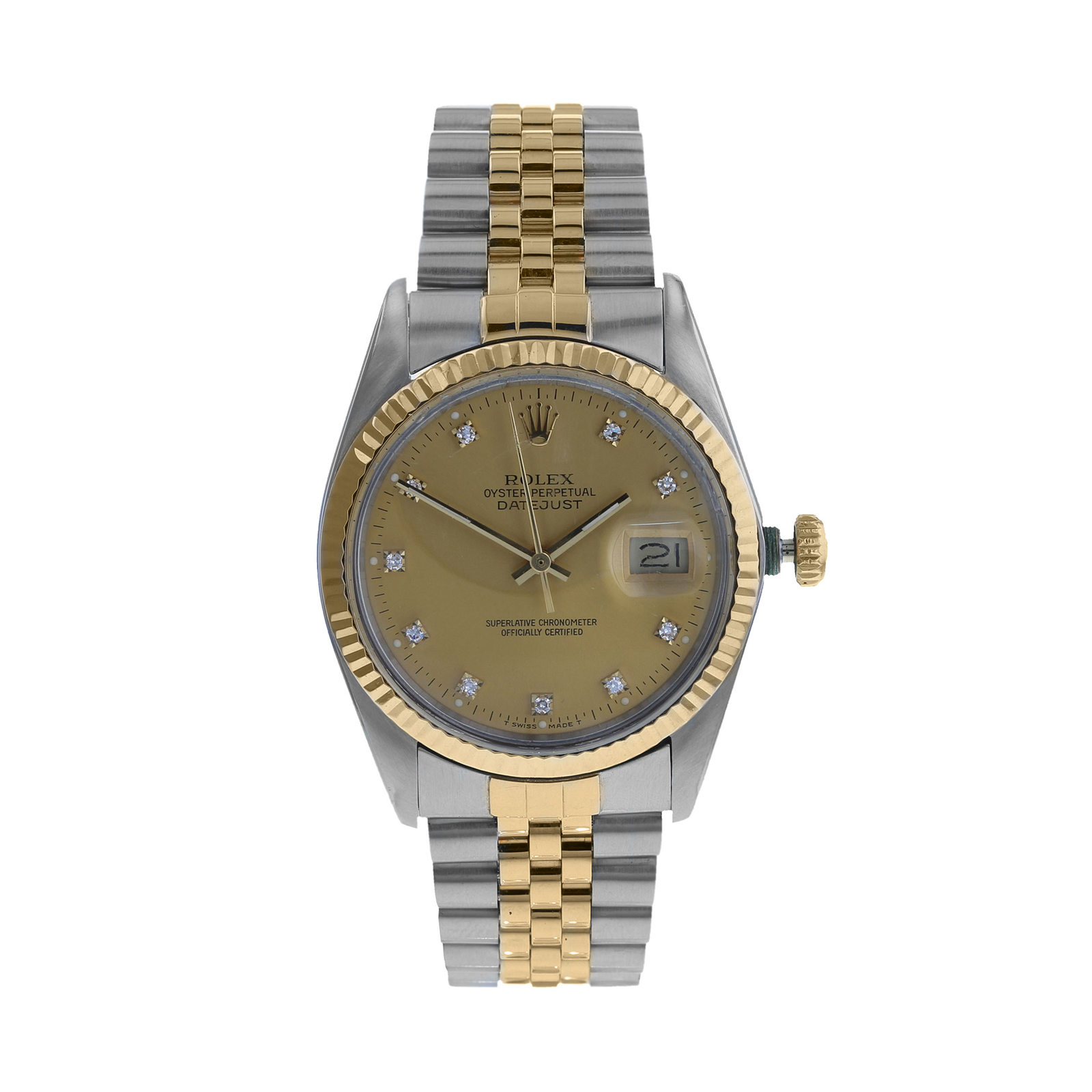 watches p datejust owned watch circa pre rolex ladies