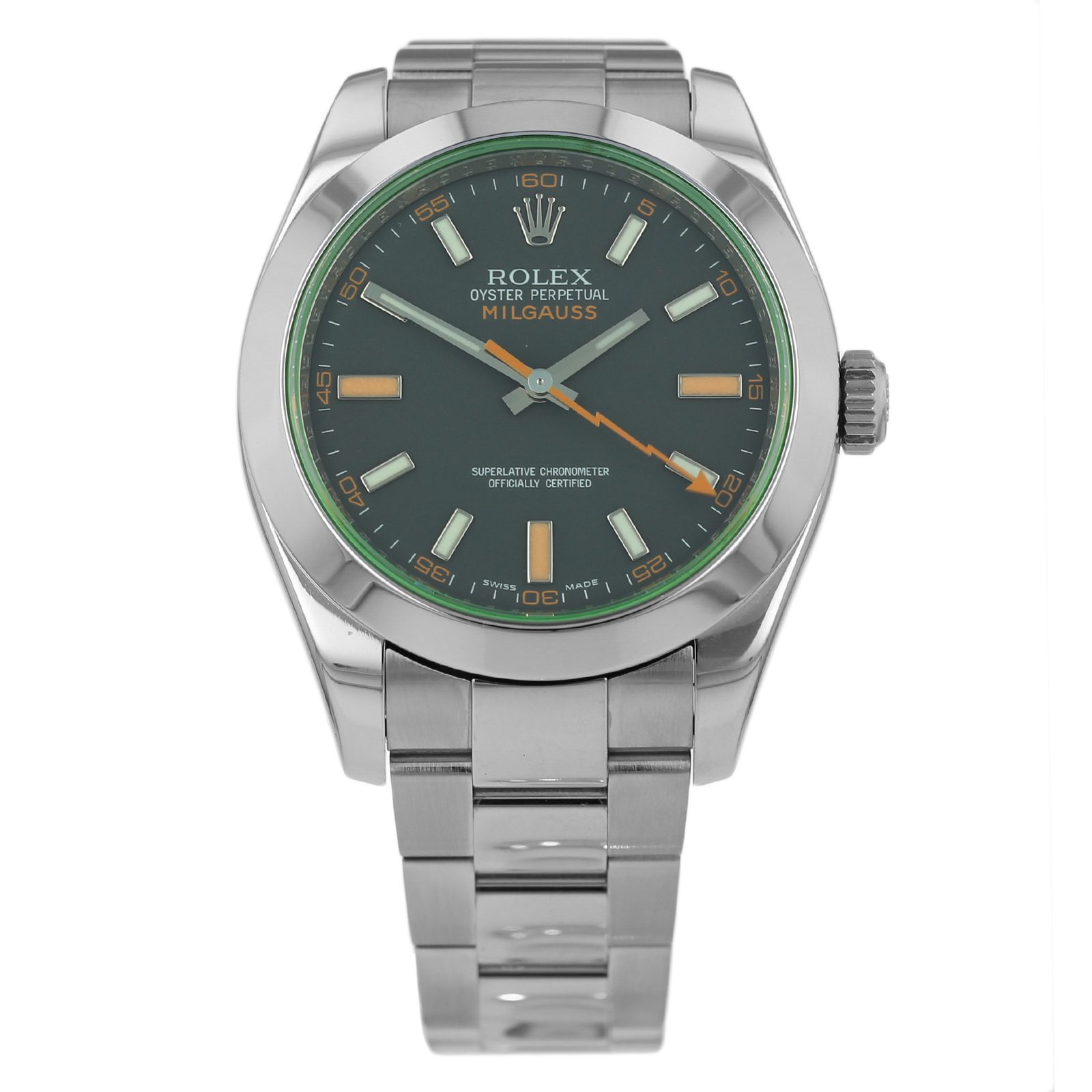 Pre-Owned Rolex Milgauss Mens Watch 116400GV