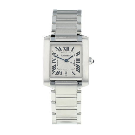 Pre-Owned Cartier Tank Française Mens Watch W51002Q3/2302