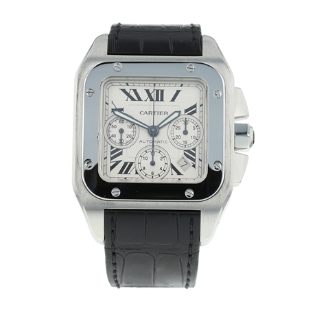 Pre-Owned Cartier Santos 100 XL Mens Watch W20090X8/2740