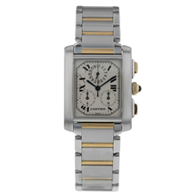 Pre-Owned Cartier Tank Francaise Chronoflex Mens Watch 2303