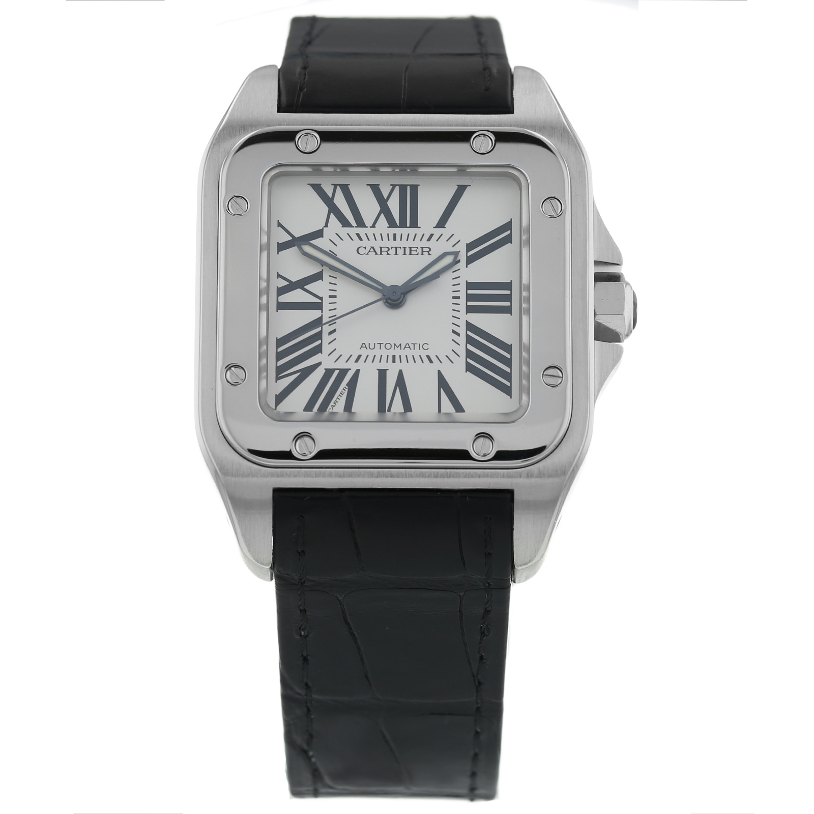 a5fed73ab1cc6 Pre-Owned Cartier Santos 100 Mens Watch 2656