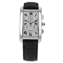 Pre-Owned Cartier Tank Americaine Mens Watch W2603356/ 2312