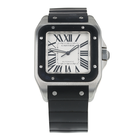 Pre-Owned Cartier Santos 100 Mens Watch W20121U2/ 2656