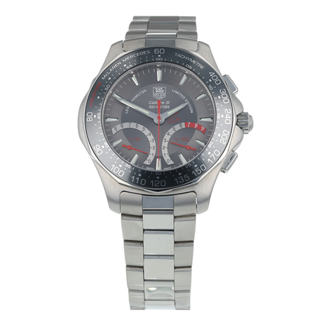 Pre-Owned TAG Heuer Aquaracer Lewis Hamilton Edition Mens Watch CAF7114
