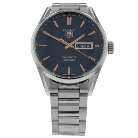 Pre-Owned TAG Heuer Carrera Calibre 5 Day-Date Mens Watch WAR201C-1