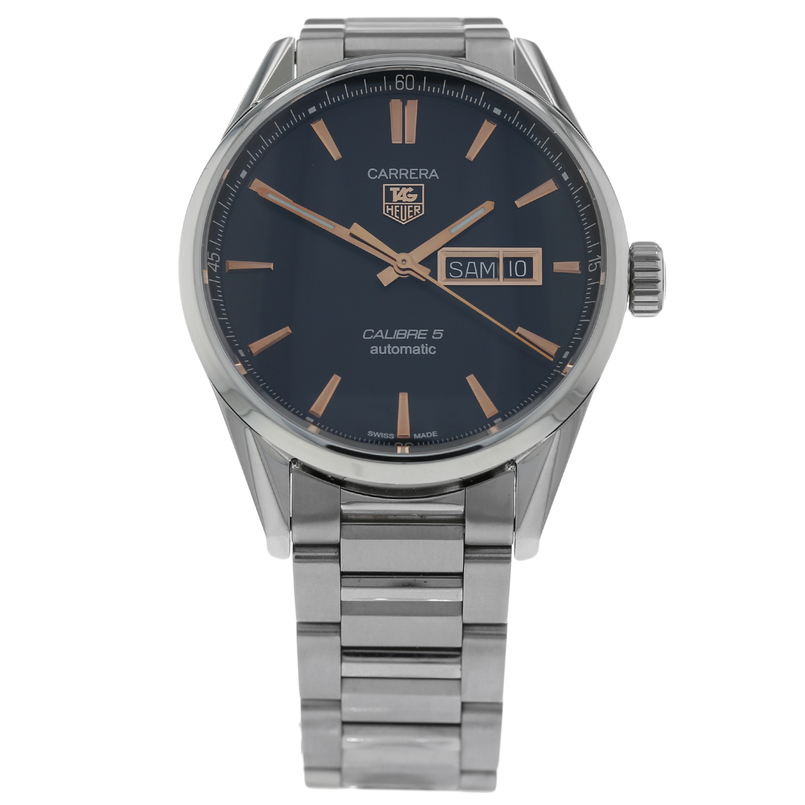 8c29165f481 Pre-Owned TAG Heuer Carrera Calibre 5 Day-Date Mens Watch WAR201C-1 | Pre  Owned Watches | Goldsmiths