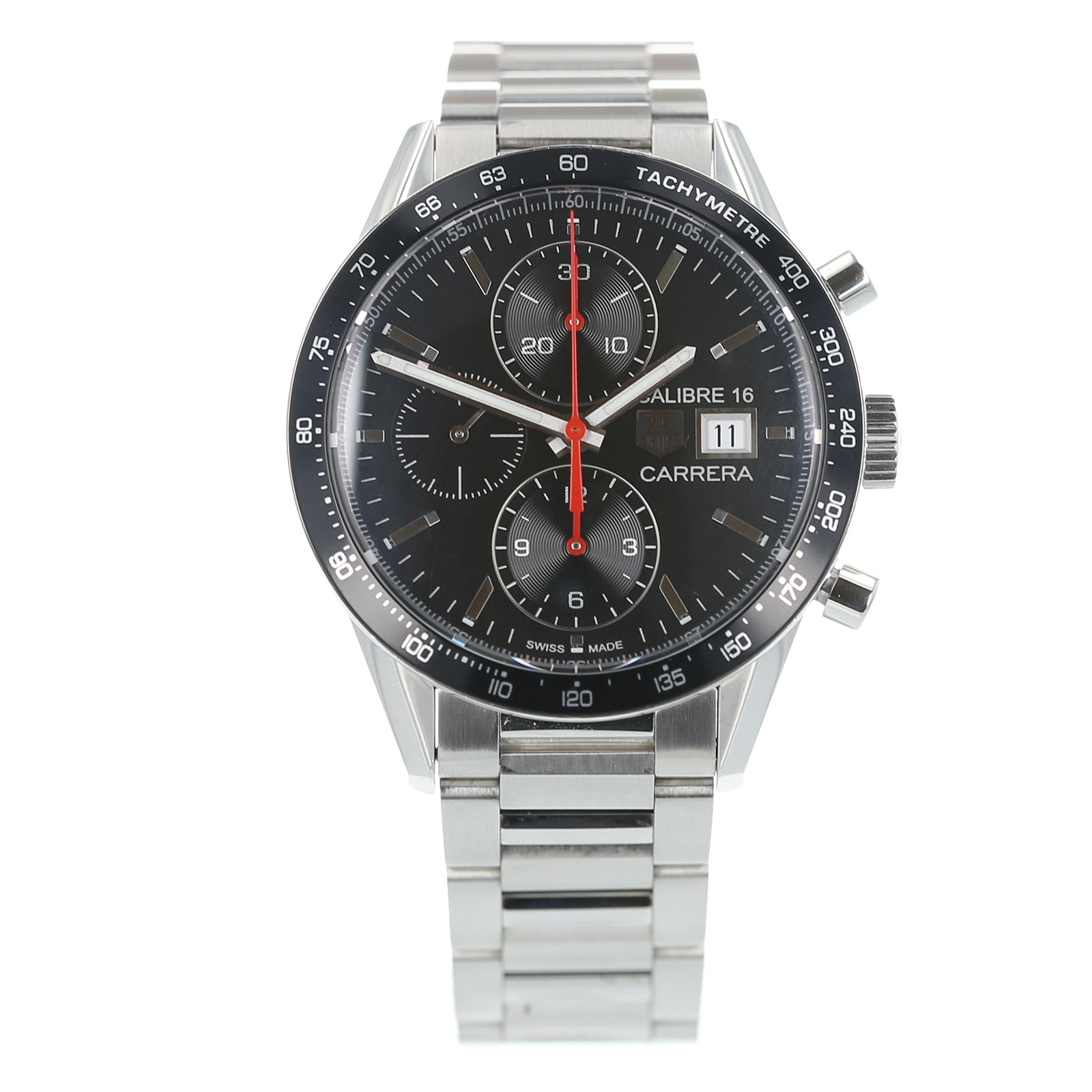 39c7a36723e15 Pre-Owned TAG Heuer Carrera Calibre 16 Mens Watch CV201AK